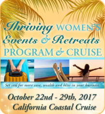 """""""Thrive with Women's Events & Retreats"""" Program & Cruise"""