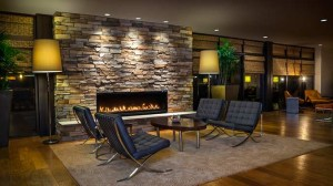 Relax and unwind by the fire in our stylish lobby